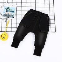 2019 New Warm pants Kids Cartoon Pant Fashion Boy Girl Jeans Winter Thickening Kids Denim Pants Baby Jean Infant Clothing 1-6Y