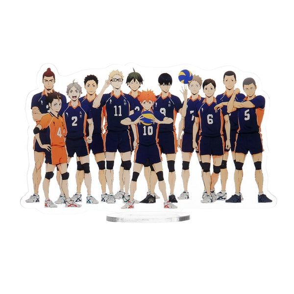 1pcs Anime Haikyuu!! Acrylic Desk Stand Figures Models Volleyball Teenagers Figures Plate Holder Stand Model Plate Decor Gift