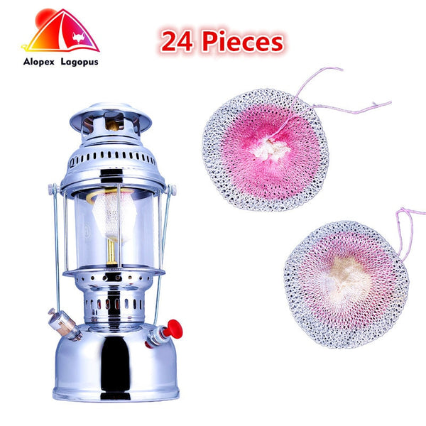 24PCS Butterfly Mantle  High-Quality Gas Lamps, Outdoor Gas Mantle Lamp,Coat The Lights Outdoors, Light Oil Camp 500-600cp