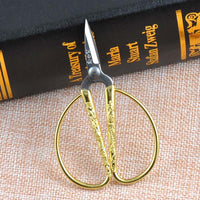 1Pcs 8.5*5.3cm European Vintage Gold Sewing Scissors Embroidery for Needlework Fabric Cutter Dragon Pattern Tailor's Scissors,Q
