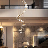 Pendant Light Modern minimalist duplex floor hall fashion atmosphere Nordic living room lamp villa spiral staircase long hanging