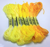 Cross Stitch thread The Unique Style 8 Cross Stitch Cotton Embroidery Thread Floss Sewing Skeins Craft Dofferent Gradient Color