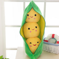 1pc Pea pod plush toy cute bean pea shape sleeping pillow creative holiday gift can be cleaned disassembled filled plant doll
