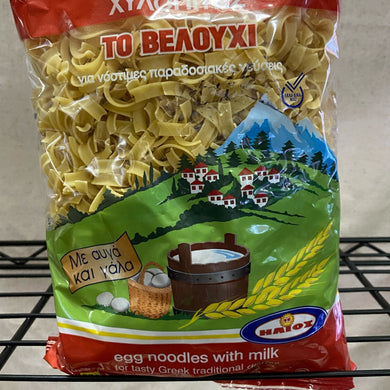 bag of noodles on wire shelf