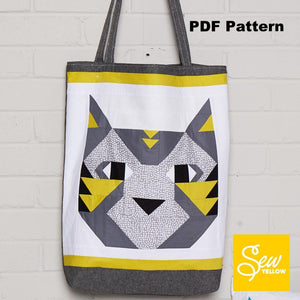 Atomic Kitty PDF Pattern - Bag, Cushion & Patch