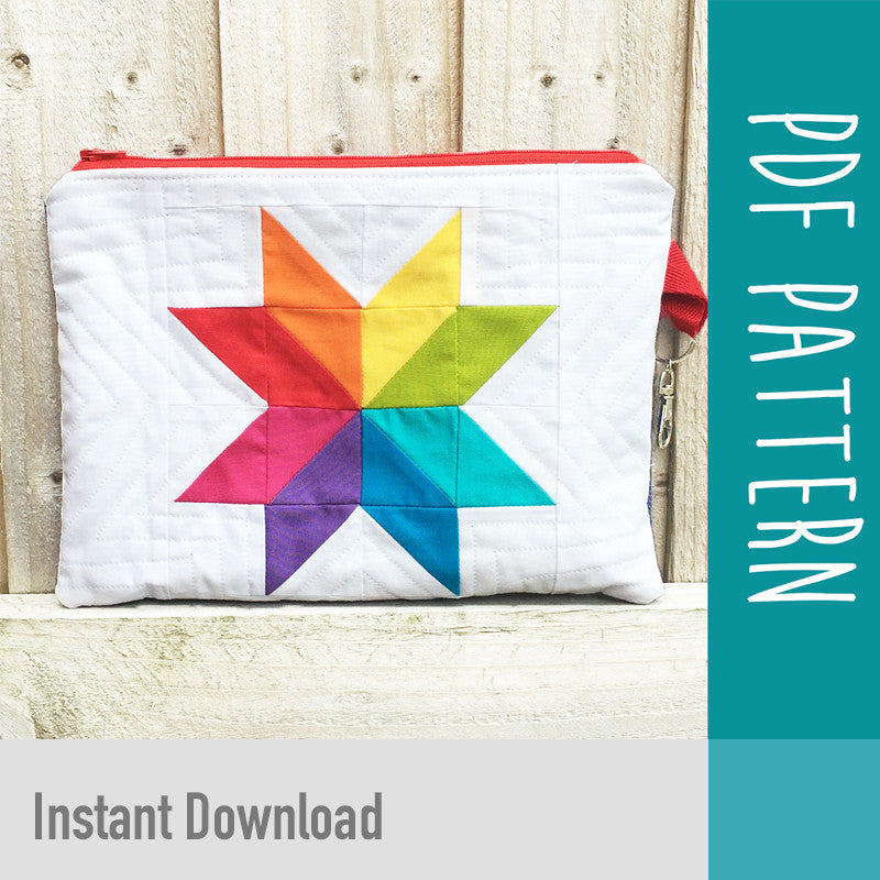 Rainbow Star Purse Kit PDF Pattern