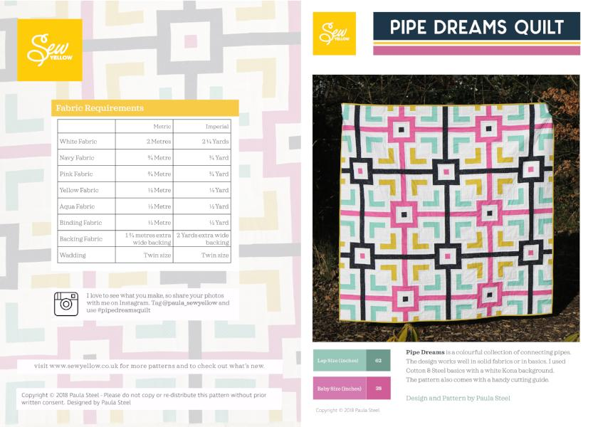 Pipe Dreams Lap Quilt PDF Pattern