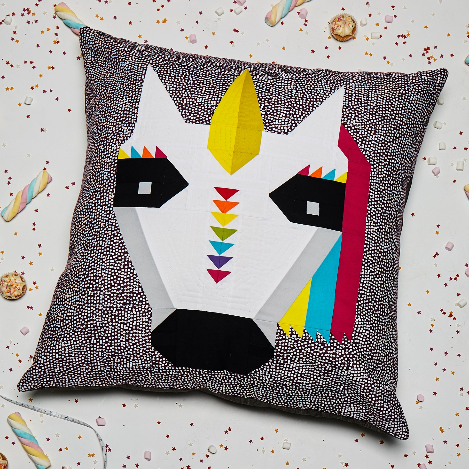 Rainbow Unicorn Cushion PDF Pattern