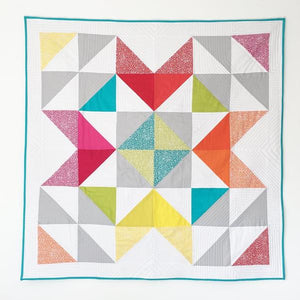 Spotty Rainbow Star Baby Quilt PDF Pattern
