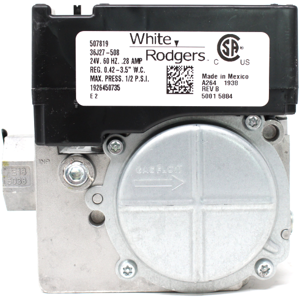 "Coleman 02543257000 Emerson White Rodgers 1/2"" Combnation Gas Valve, 24V, DSI, HIS Modulating 36J27-508"