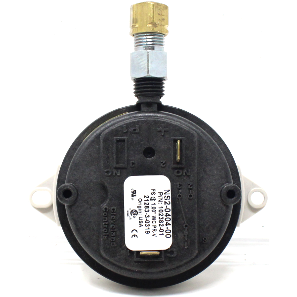 "Thermal Solutions 102382-01 Combustion Air Flow Switch, Set at 1.0"" W.C., On-Off / 2 stage unit"