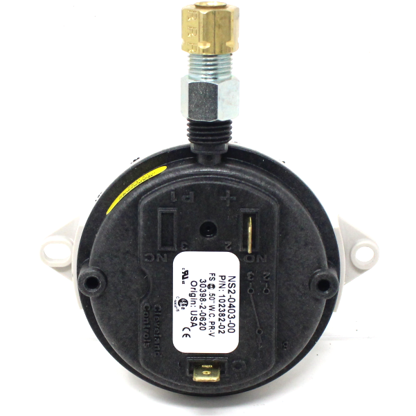 "Thermal Solutions 102382-02 Combustion Air Flow Switch, Set at 0.5"" W.C. Modulating Units"