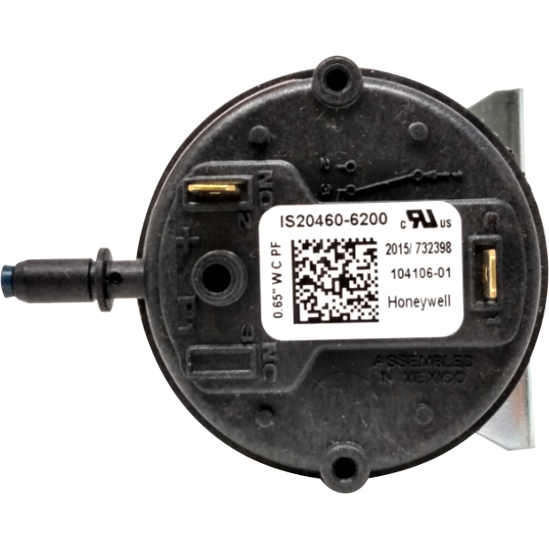 "Lennox 10U93 Pressure Switch (-0.65"" WC) - Alternate / Replacement Part Numbers: 104018-01, 605187-01, 104106-01, IS20460-6200"