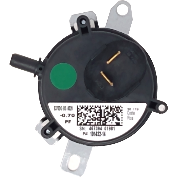 "Armstrong Air 57W79 Pressure Switch (0.70"" WC) - Alternate / Replacement Part Numbers: 57W7901, 101432-14, 10143214, 101432-14, 9370DO-BS-0020, R45695-004"
