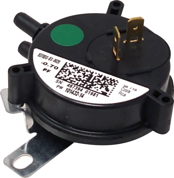 "Lennox 57W79 Pressure Switch (0.70"" WC) - Alternate / Replacement Part Numbers: 57W7901, 101432-14, 10143214, 101432-14, 9370DO-BS-0020, R45695-004"