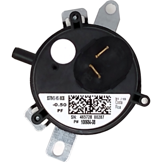 "Lennox 73W76 White Pressure Switch (0.50"" WC) - Alternate / Replacement Part Numbers: R100684-08, 100684-08 ,R100684-01"