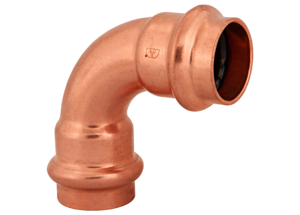 "BMI 1-1/4"" Wrot Copper Press-Fit 90 Degree Elbow Fitting Item 47307"