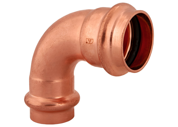 "BMI 3/4"" x 1/2"" Wrot Copper Press-Fit 90 Degree Reducing Elbow Fitting Item 47323"
