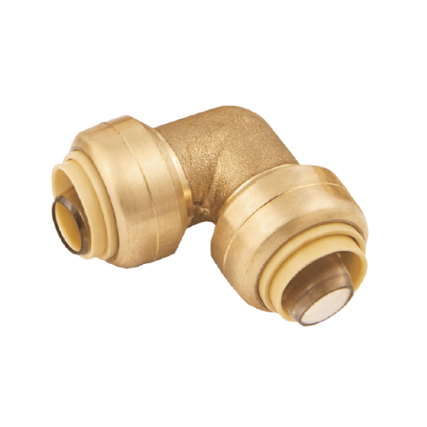 "BMI 1"" Brass Push-Fit x Push-Fit 90 Degree Elbow Fitting Item 38306"