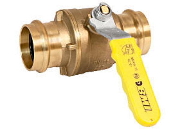 "BMI 1-1/4"" Brass Press-Fit Ball Valve 250WOG Lead-Free Item 13517"