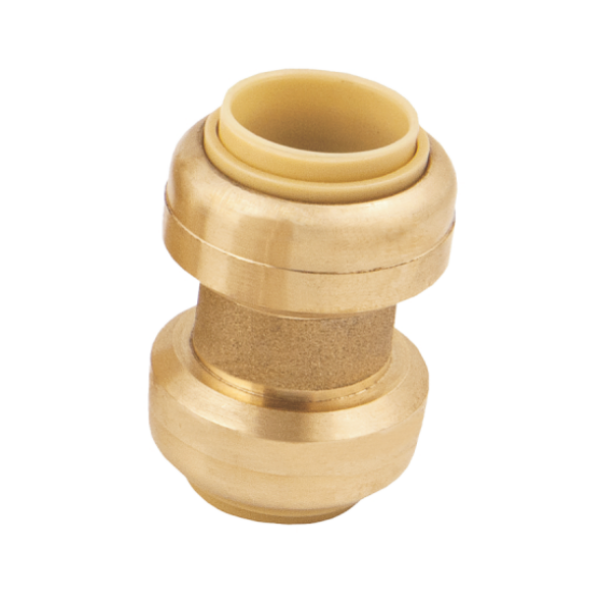 "BMI 3/4"" Brass Push-Fit Coupling Fitting Item 38005 (Package Quantities)"