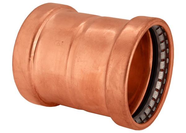 "BMI 3"" Wrot Copper Press-Fit Coupling Dot Stop Fitting Item 47011"