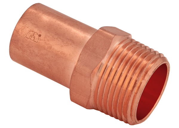 "BMI 1-1/4"" Wrot Copper Press-Fit FTGxMIPS Adapter Fitting Item 47887"