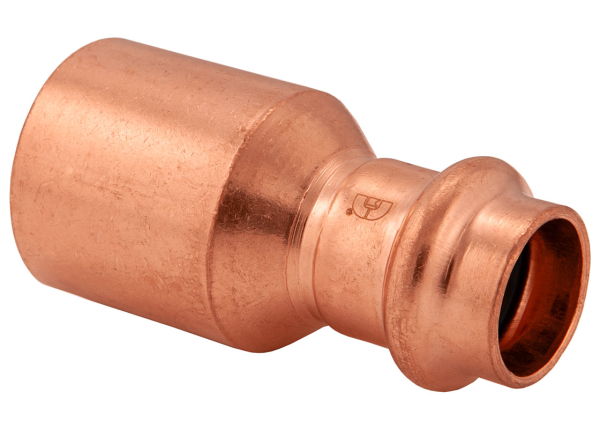 "BMI 3/4"" x 1/2"" Wrot Copper Press-Fit FTG x P Bushing Fitting Item 47123"