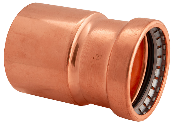 "BMI 2-1/2"" x 1-1/4"" Wrot Copper Press-Fit FTG x P Bushing Fitting Item 47148"