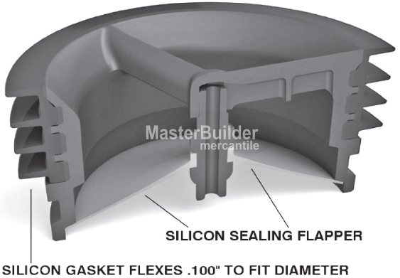 "MIFAB MI-GARD-35 Floor Drain Trap Seal For 3-1/2"" Pipe Size"