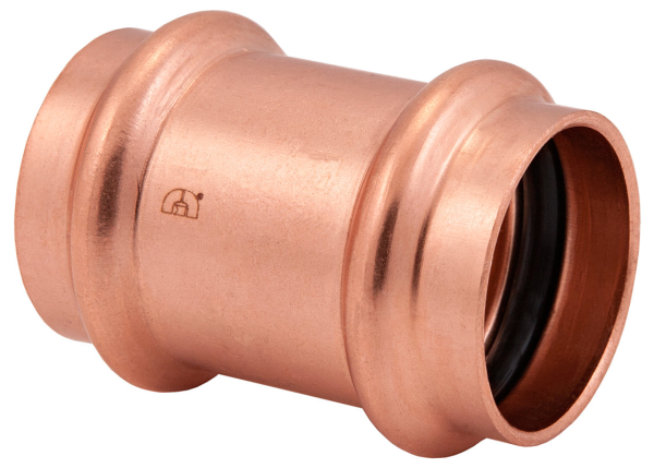 "BMI 1-1/4"" Wrot Copper Press-Fit No Stop Coupling Fitting Item 47077"