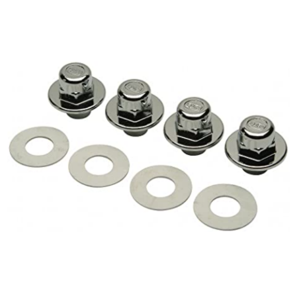 Zurn P1203-FINISH TRIM Chrome Cap Nuts for Wall Hung Toilet Carrier (Bag of 4)