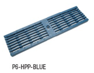 "Zurn P6-HPP-BLUE 6"" Wide Heel-Proof Linear Slotted HDPE Grate Class A Blue"