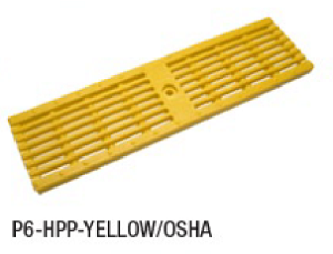 "Zurn P6-HPP-YELLOW/OSHA 6"" Wide Heel-Proof Linear Slotted HDPE Grate Class A Yellow"