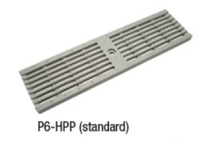 "Zurn P6-HPP 6"" Wide Heel-Proof Linear Slotted HDPE Grate Class A Light Gray"