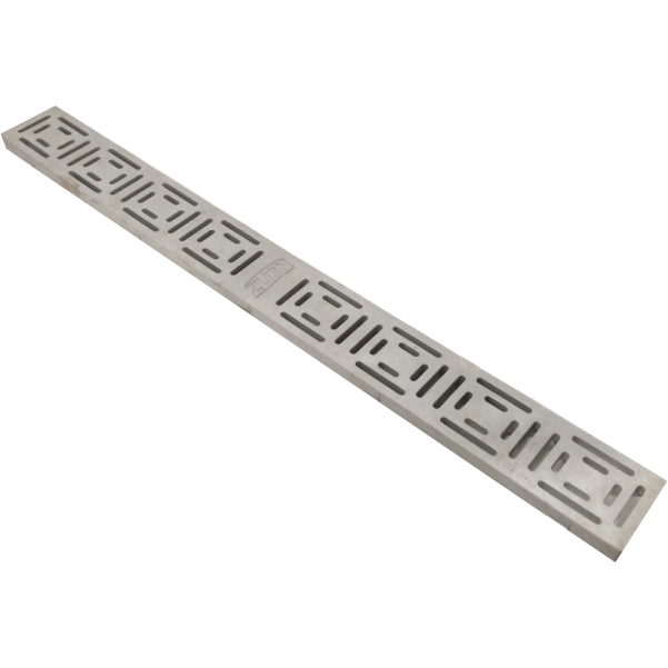 "Zurn P880-POG 2-1/2"" Wide x 24"" Long Heel-Proof Linear Slotted HDPE Grate Class A Light Gray"