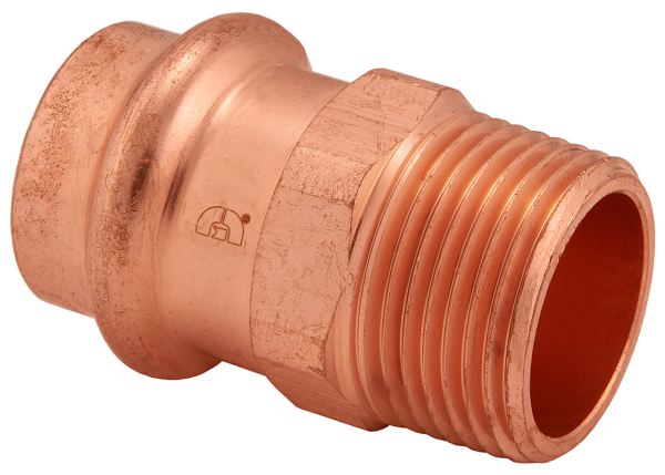 "BMI 1/2"" Wrot Copper Press-Fit PxMIPS Adapter Fitting Item 47804"