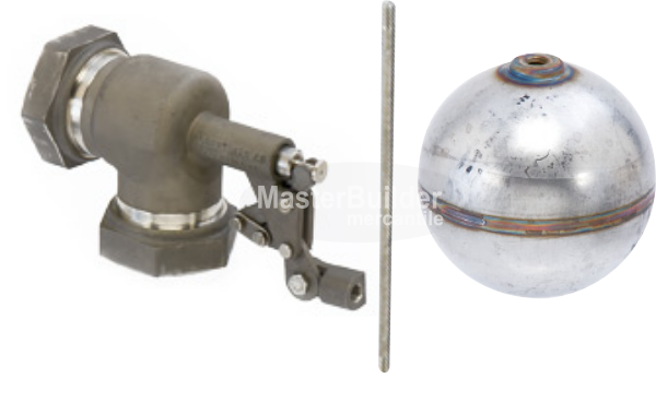 "Control Devices R1380-1-1/2-5-N 1-1/2"" Stainless Steel Float Valve Assembly"
