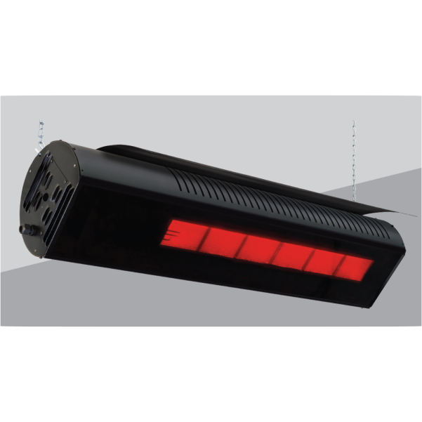 Beacon-Morris RBW Series Tinted Ceramic Glass Infrared Patio Heaters - Wind and Rain Resistant