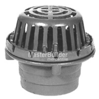 "Zurn Z125 8"" Diameter Roof Drain with Low Silhouette Dome"