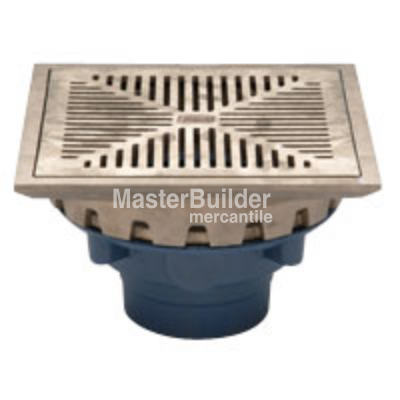 "Zurn Z158 10"" Square Top Promenade Deck Drain with Heel-Proof Grate and Rotatable Frame"