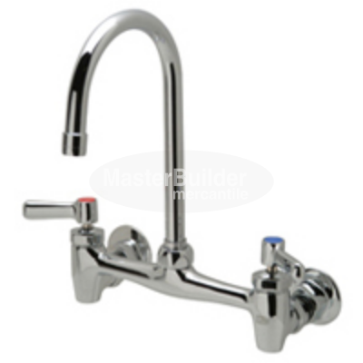 "Zurn Z843B1-XL Sink Faucet with 5-3/8"" Gooseneck and Lever Handles Lead-Free"
