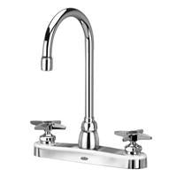 "Zurn Z871B2-XL Lead-Free 8"" Centerset Faucet with 5-3/8"" Gooseneck and Four-Arm Handles"