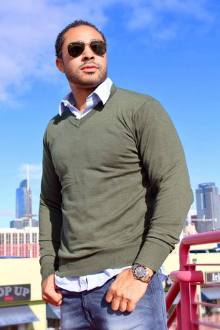 Robeaux Olive Green Sweater