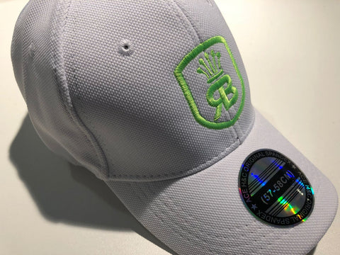 White w/neon green logo