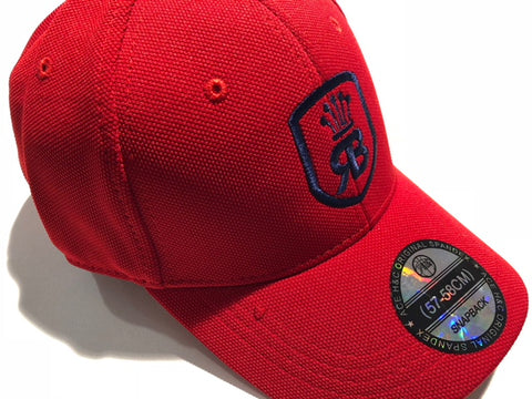 Red w/navy blue logo