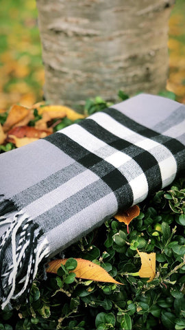 Blanket Scarf- Grey