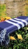 Blanket Scarf- Navy Blue