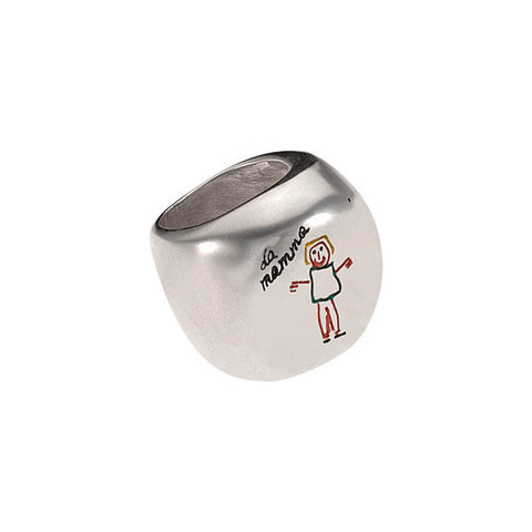 Italian 925‰ Silver Large Ring-Inkids