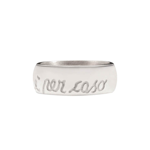 Italian 925‰ Silver Low Thick Ring